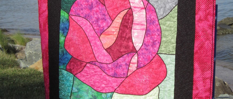 Stainglass Rose Quilt
